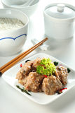 Yam Rice Set Royalty Free Stock Image