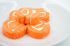 Yam roll cake Stock Images