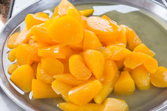Yam in syrup,Thai Dessert Royalty Free Stock Photo