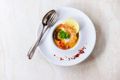 Yam tailandês de Tom da sopa fotografia de stock