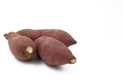 Yam on white background Royalty Free Stock Photo