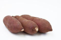 Yam on white background Stock Images