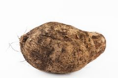 Yam in white background