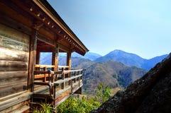 Yamadera-Ansicht von der Spitze Stockfotografie