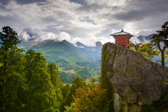Yamadera Mountain Temple Royalty Free Stock Photo