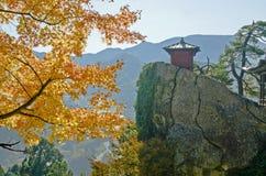 Yamadera tempel Arkivfoton