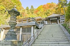 Yamadera Temple. Yamadera Old Temple in Japan Royalty Free Stock Photography