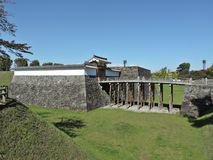 Yamagata Castle Ruins or Kajo Park in Japan. Yamagata Castle Ruins or Kajo Park in Tohoku region of Japan royalty free stock photography