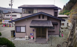 Japanese traditional houses in Yamagata royalty free stock images