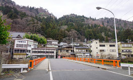Japanese traditional houses in Yamagata stock images