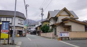 Japanese traditional houses in Yamagata stock image