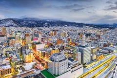 Yamagata stad, Japan royaltyfri foto