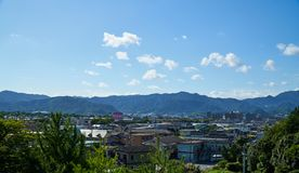 The scenery of Yamaguchi City stock image