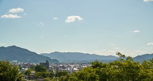 The scenery of Yamaguchi City stock photos