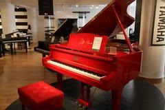 Yamaha grand piano. Harrods stock photo