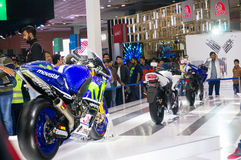 Yamaha bike at the Delhi Auto expo 2016 Stock Photography