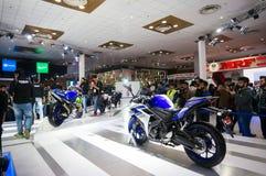 Yamaha bike at the Delhi Auto expo 2016 Royalty Free Stock Photos