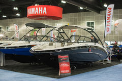 Yamaha boats on display at the Los Angeles Boat Show on February Stock Photos