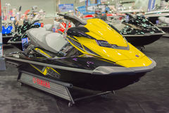 Yamaha FX Cruiser SVHO on display. Los Angeles, California, USA - February 19, 2015 - Yamaha FX Cruiser SVHO on display at the Progressive Los Angeles Boat Show Royalty Free Stock Photos