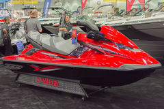 Yamaha FX Cruiser SVHO on display. Los Angeles, California, USA - February 19, 2015 - Yamaha FX Cruiser SVHO on display at the Progressive Los Angeles Boat Show Royalty Free Stock Photography