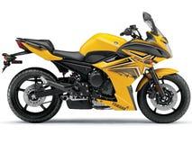 Yamaha FZ6R Yellow Royalty Free Stock Photography