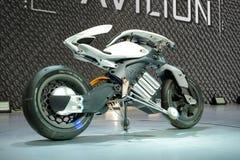 YAMAHA MOTODROID, una manifestazione di concetto del motociclo su esposizione al trentanovesimo salone dell'automobile internazio immagini stock