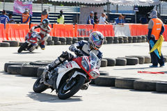Yamaha Motorbike Racing at Thailand Stock Photos