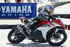 Yamaha Motorbike Racing at Thailand Royalty Free Stock Image