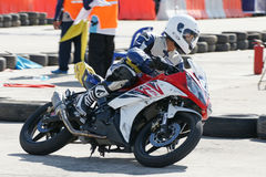 Yamaha Motorbike Racing at Thailand Stock Photography