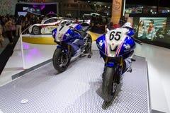 Yamaha motorcycle on display Stock Image