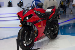 Yamaha motorcycle new model presented in Motor Show Royalty Free Stock Photography