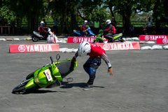 Yamaha new scooter presentation. Sporting event in Bali, Indonesia organised by Yamaha for presentation of a new scooter model with stunt riding competition of Stock Photography