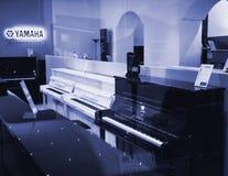Yamaha Pianoworld luksusowy fortepianowy sklep Fotografia Stock