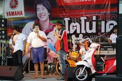 Yamaha promotion in Thailand Stock Photos