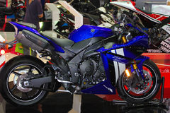 Yamaha R1 Autoausstellung 2012 Stockfotografie