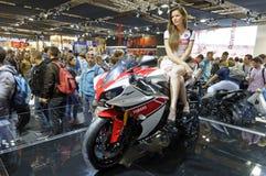 Yamaha R1 in Eicma 2011 Stock Photography