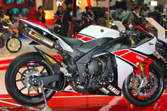 Yamaha R1 Motor Show 2012 Stock Photo