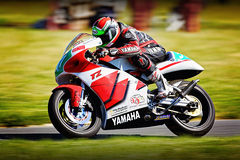 Yamaha sport motorbike racing Stock Images