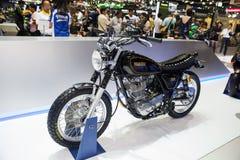 YAMAHA SR. NONTHABURI - DESEMBER 4 :YAMAHA SR motorcycle on display at MOTOR EXPO 2014 on Dec 4,2014 in Nonthaburi, Thailand stock photography
