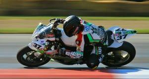 Yamaha Superbike racing Stock Image