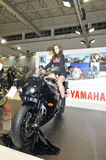 Yamaha team. Batalha - February 6, 2011: Yamaha participating in the event of the Expomoto - Hall of bikes, accessories and equipment on February 6, 2011 in Royalty Free Stock Image
