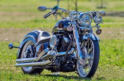 Yamaha V-Star Motorcycle stock photo
