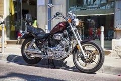 Yamaha Virago 1100 motorcycle - XV1100 Cruiser on the street Royalty Free Stock Photography