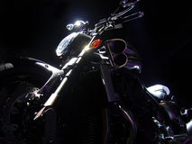 Yamaha VMAX in dark lights. New motorbike in lights against a dark background Stock Photography