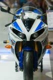 Yamaha YZF-R1 drużyna Yamaha Błękitny i Biały 2014 Obraz Stock