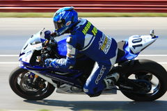 Yamaha YZF-R6 racing Royalty Free Stock Images