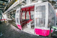 Yamakata, Japan - 7. Februar 2017: Drahtseilbahn im Winter bei Zao SK Stockbilder
