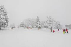 Yamakata Japonia, Luty, - 7, 2017: Sposób w zimie przy Zao sk Zdjęcie Stock