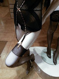 Yamamay black suspender belt stockings Stock Photos