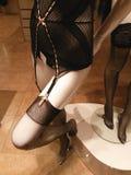 Yamamay black suspender belt stockings Stock Image